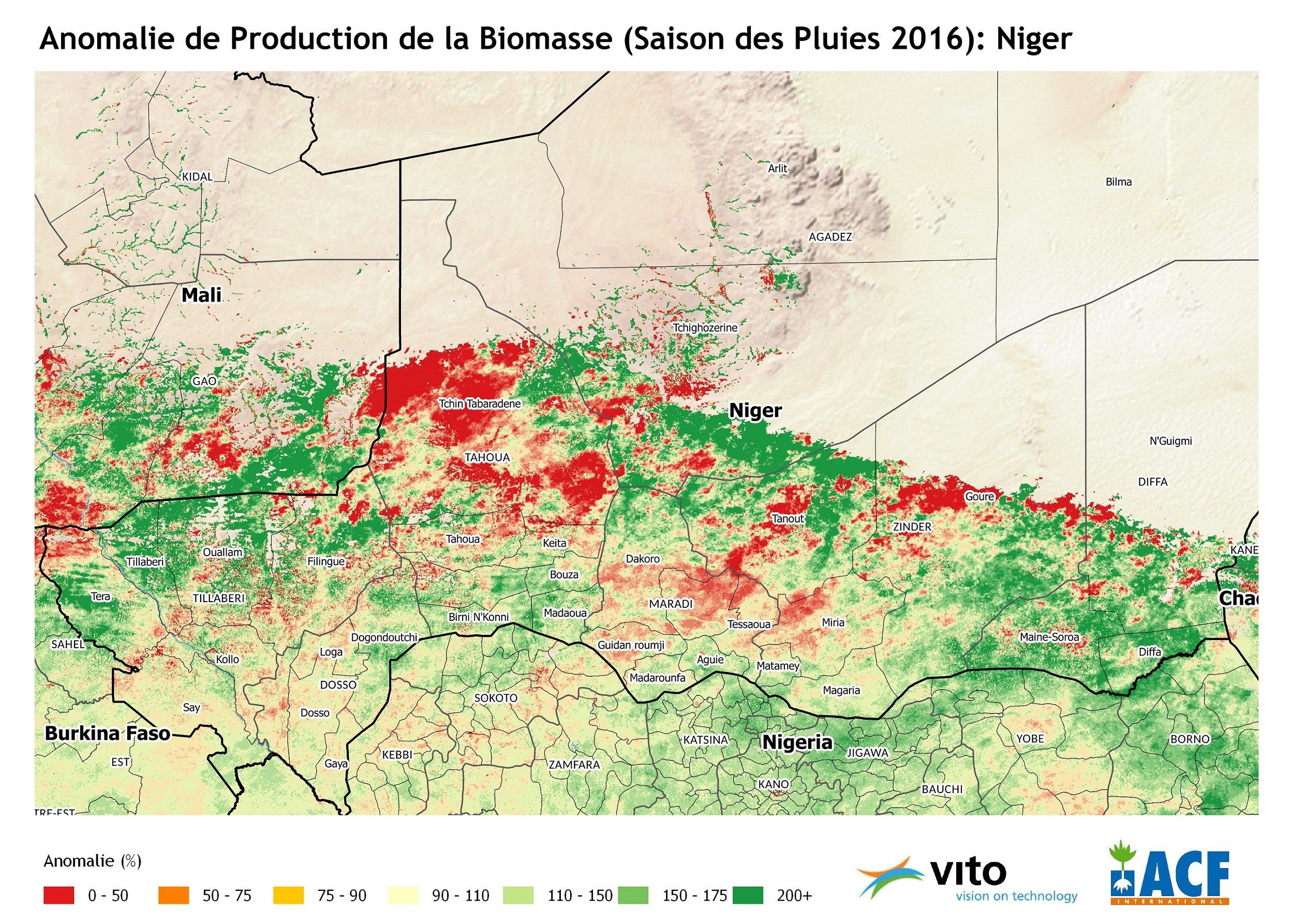Anomalie de la Biomasse 2016