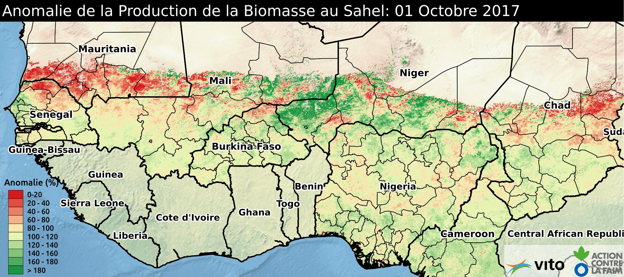Anomalie Sahel 2017