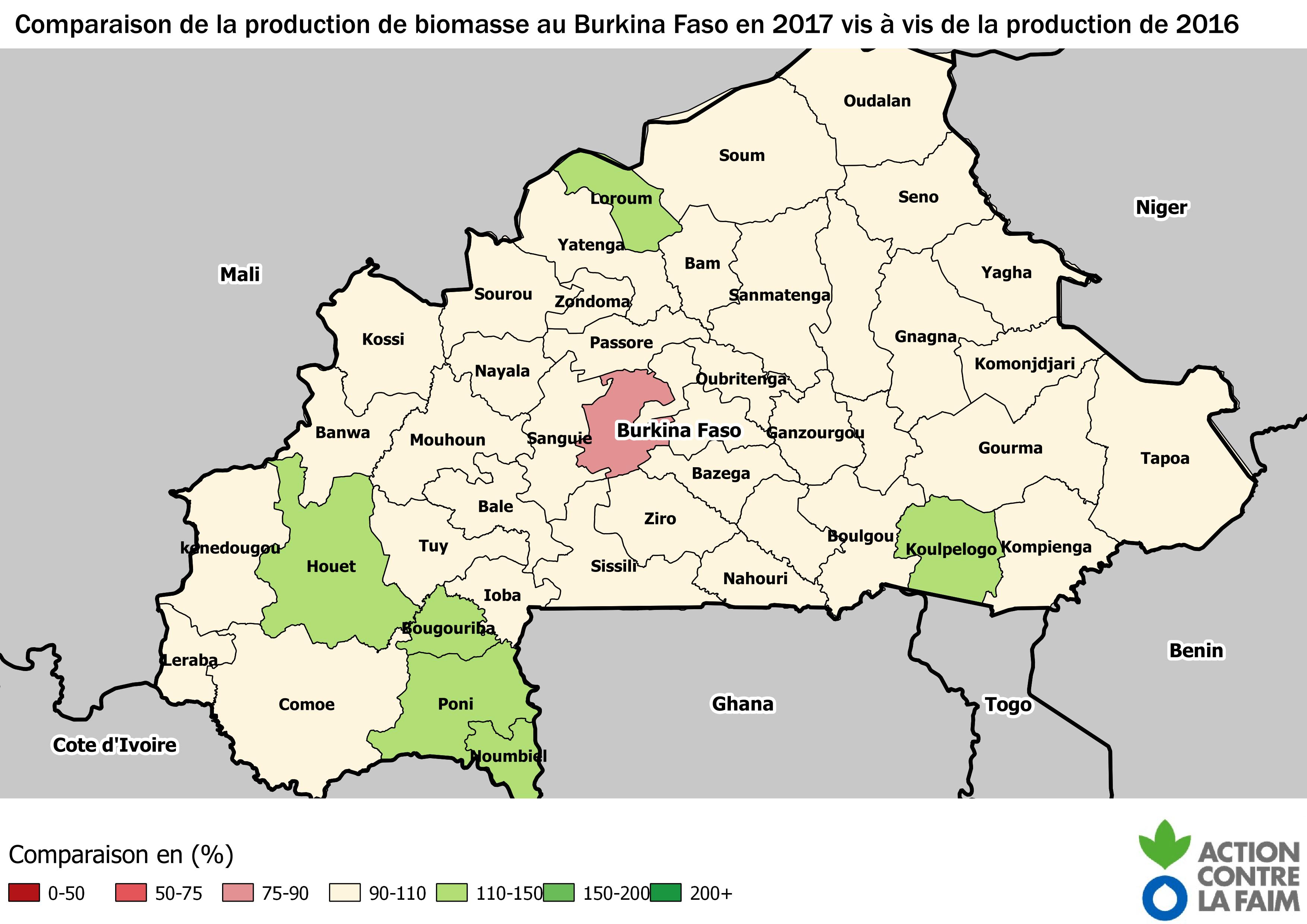 Production 2017 / Production 2016 en (%)