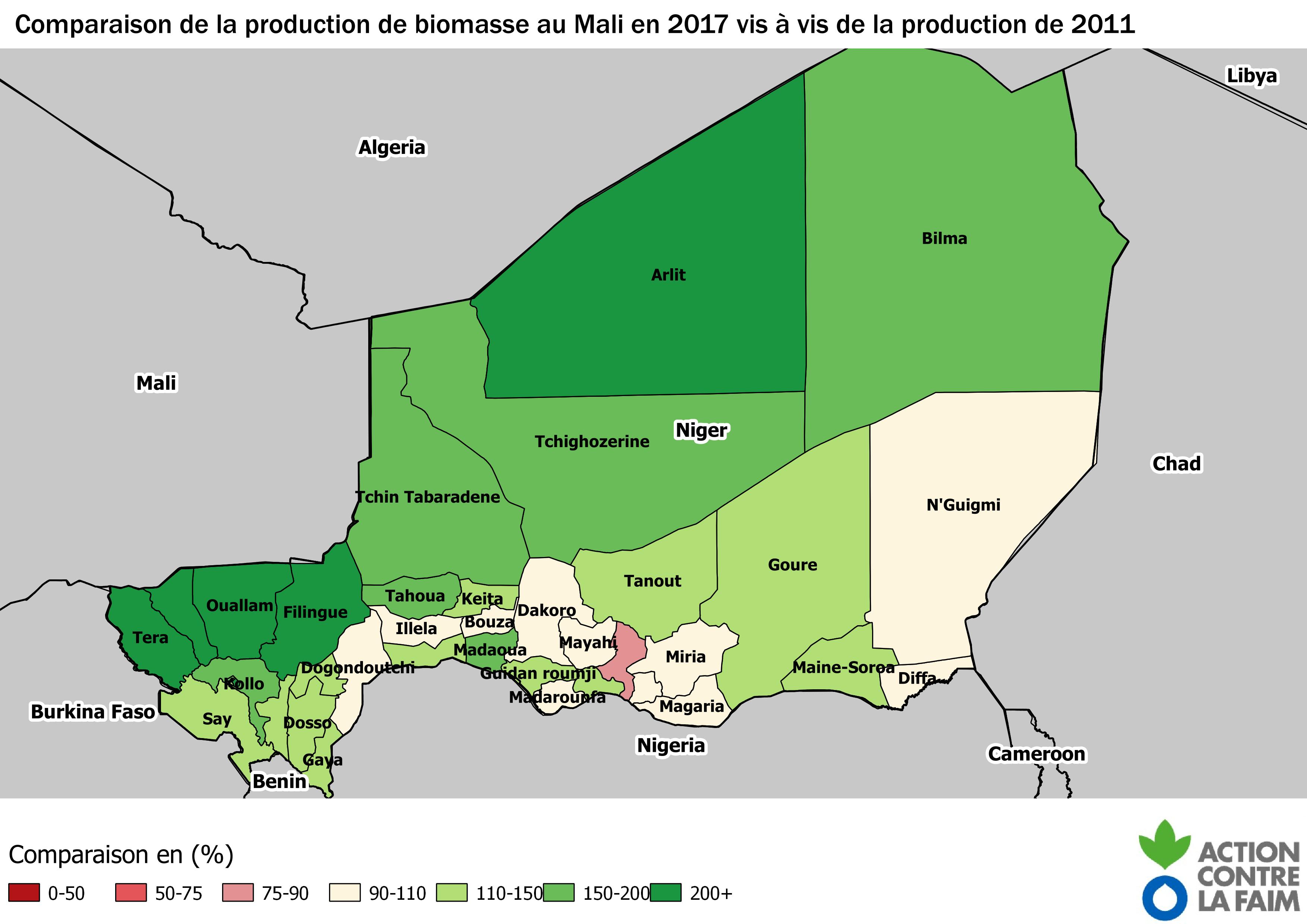 Production 2017 / Production 2011 en (%)