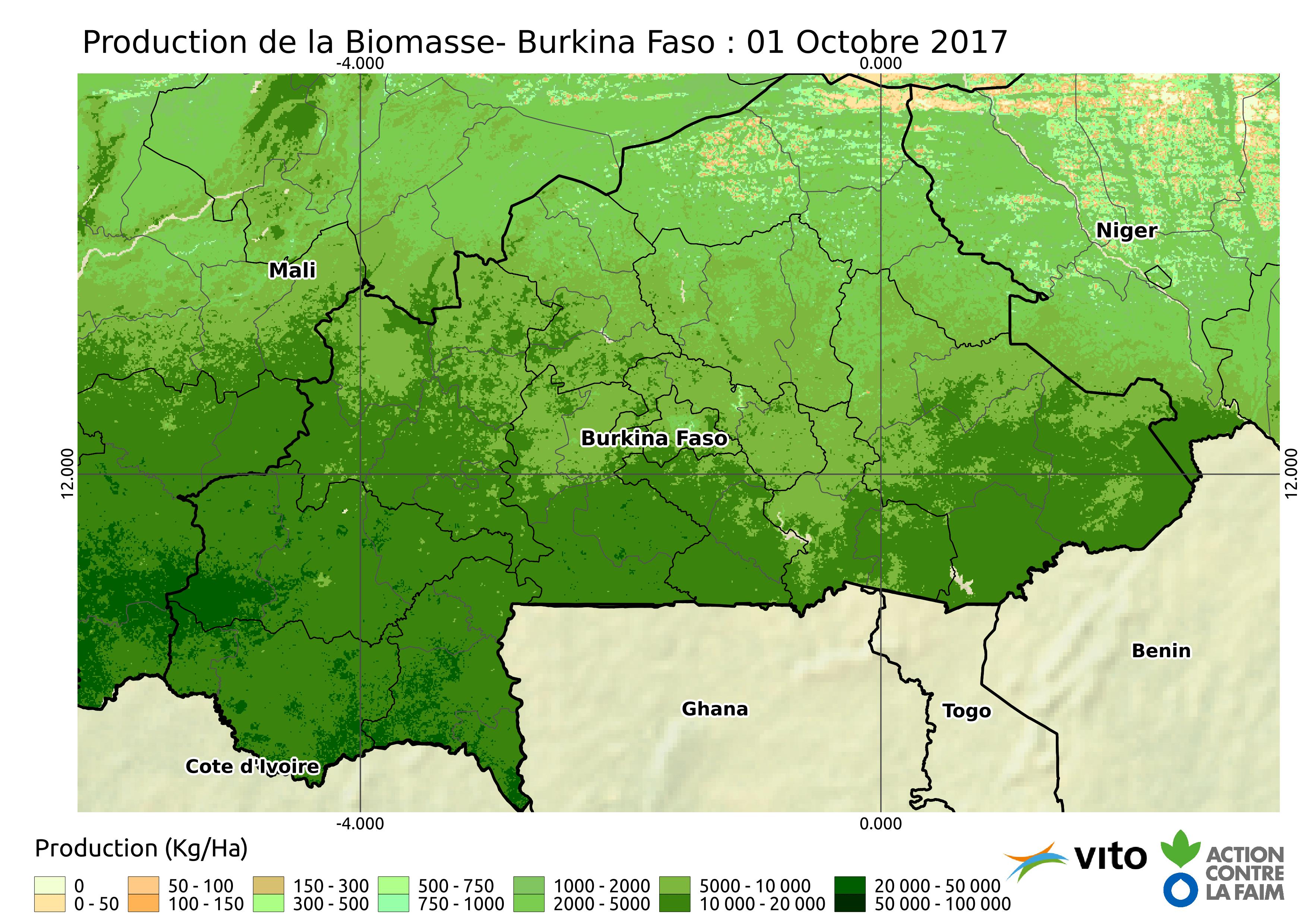 Production Burkina Faso 2017