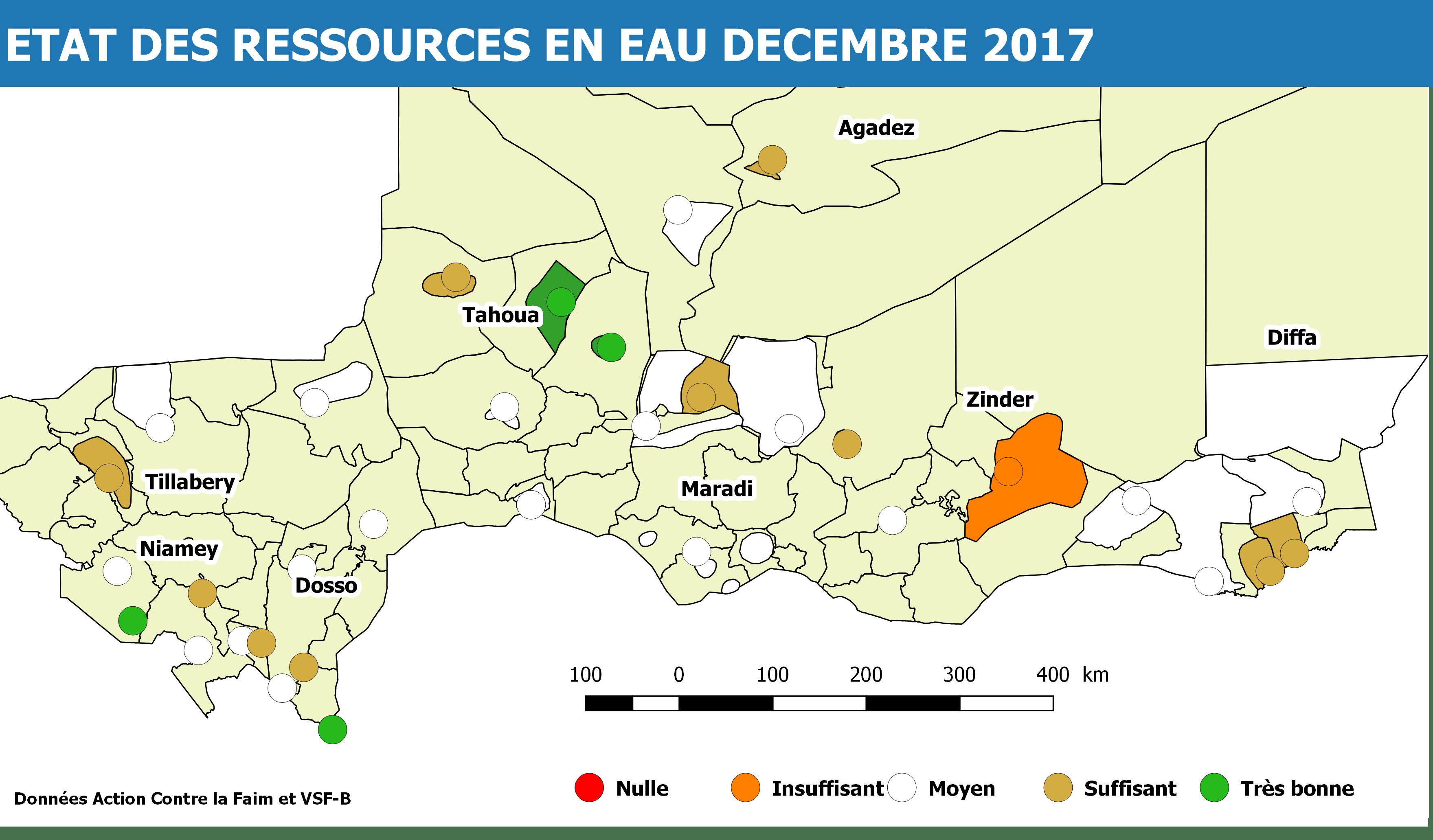 Etat des ressources en Eau Dec. 2017